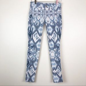 FADE TO BLUE l Ikat Embroidered Super Skinny
